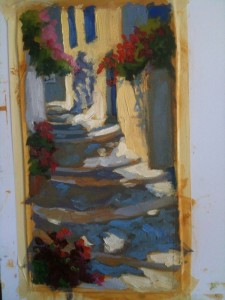 Steps by the Butcher shop, Katapola
